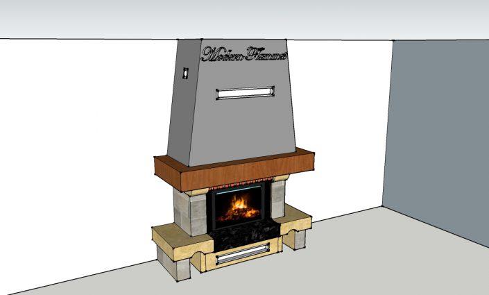 Renovation cheminée rustique Saint Julien en genevois 2