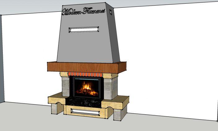 Renovation cheminée rustique Saint Julien en genevois