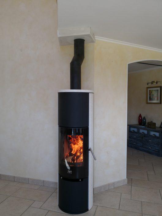 Poêle à bois Color & Fire Nodus acier noir Usinens