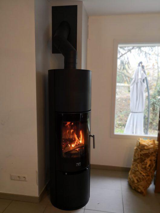 Poêle à bois Color&Fire Nodus Acier noir Viry